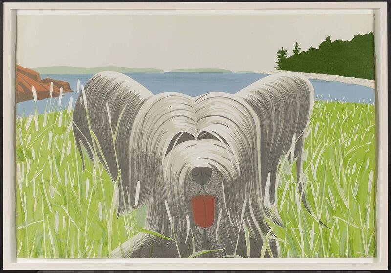 Alex Katz, 'Dog at Duck Trap', 1975, Print, Colour lithograph on Arches, Van Ham