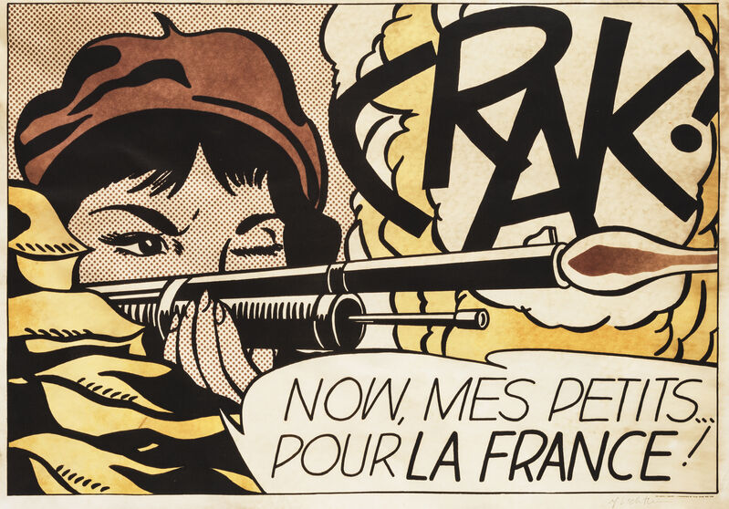 Roy Lichtenstein, 'Crak!'', 1964, Print, Offset lithograph in colours on wove paper, Tate Ward Auctions