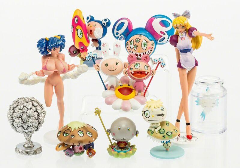 Takashi Murakami, 'Superflat Museum LA Edition Set of 10', 2004, Sculpture, Vinyl Plastic, EHC Fine Art Gallery Auction