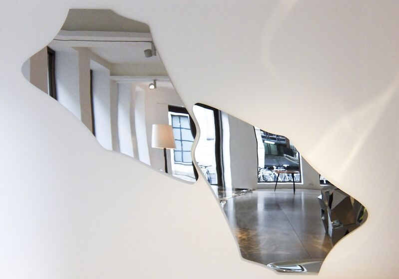 Zaha Hadid, ''Cloud-1' Pair of Mirrors ', 2013, Design/Decorative Art, Mirror polished stainless steel, mounted on wood, David Gill Gallery