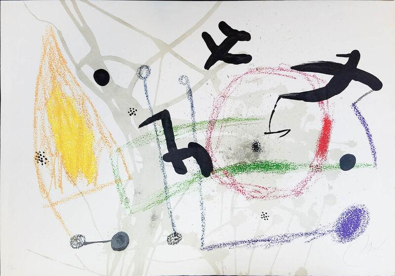 "Joan Miró, 'UNTITLED from Maravillas con Variaciones Acrósticas en el Jardín de Miró (Wonders with Acrostic Variations in the Garden of Miró)', 1975, Print, Original lithograph printed in colors on wove paper bearing the ""ARCHES / FRANCE"" watermark., Galerie d'Orsay"