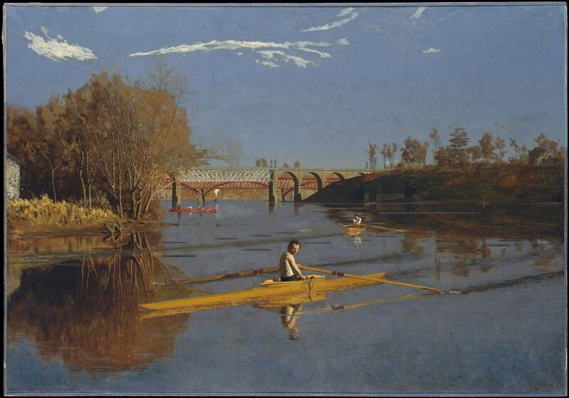 Thomas Eakins, 'The Champion Single Sculls (Max Schmitt in a Single Scull)', 1871, Painting, Oil on canvas, The Metropolitan Museum of Art