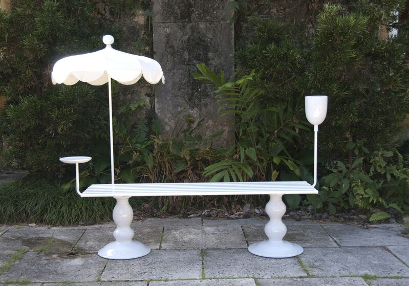 Sam Baron, 'La Georgette Bench', 2012, Design/Decorative Art, Wood, metal and ceramic, Cristina Grajales Gallery