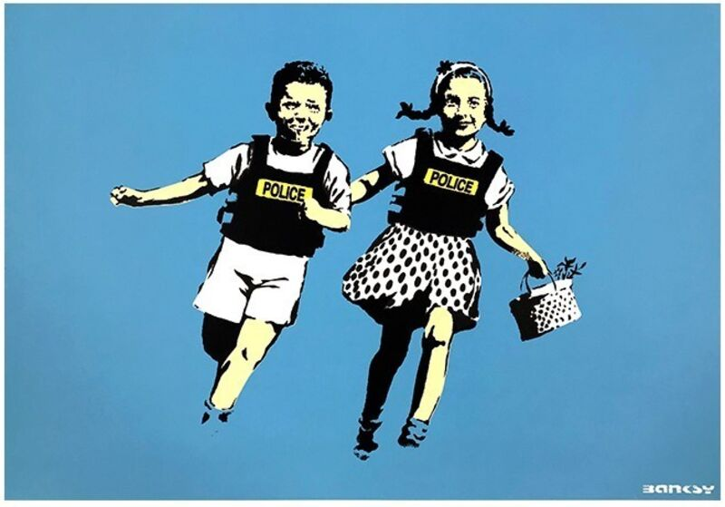 Banksy, 'Police Kids', 2005, Print, Screen-print in colors on wove paper, MoonStar Fine Arts Advisors