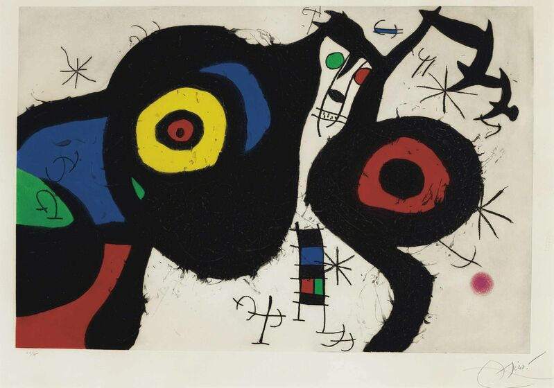 Joan Miró, 'Les Deux Amis', 1969, Print, Etching in colors with aquatint and carborundum, on Mandeure rag paper, Christie's