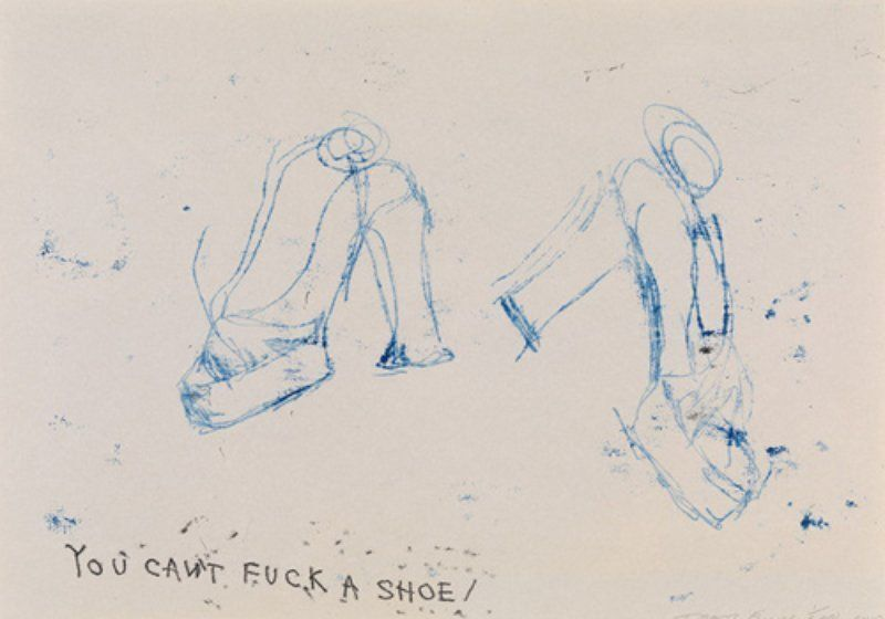 """Tracey Emin, ' TRACEY EMIN – """"YOU CAN'T FUCK A SHOE""""', 2010, Print, Polymer gravure on 140gsm Zerkall paper, Arts Limited"""