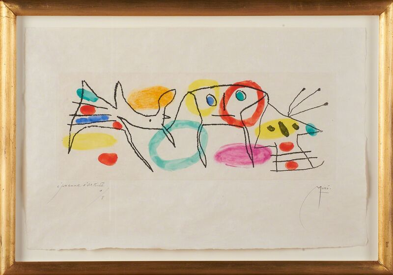 Joan Miró, 'La Magie Quotidienne', 1959, Print, Etching and aquatint in colors on japon cream paper (framed), Rago/Wright
