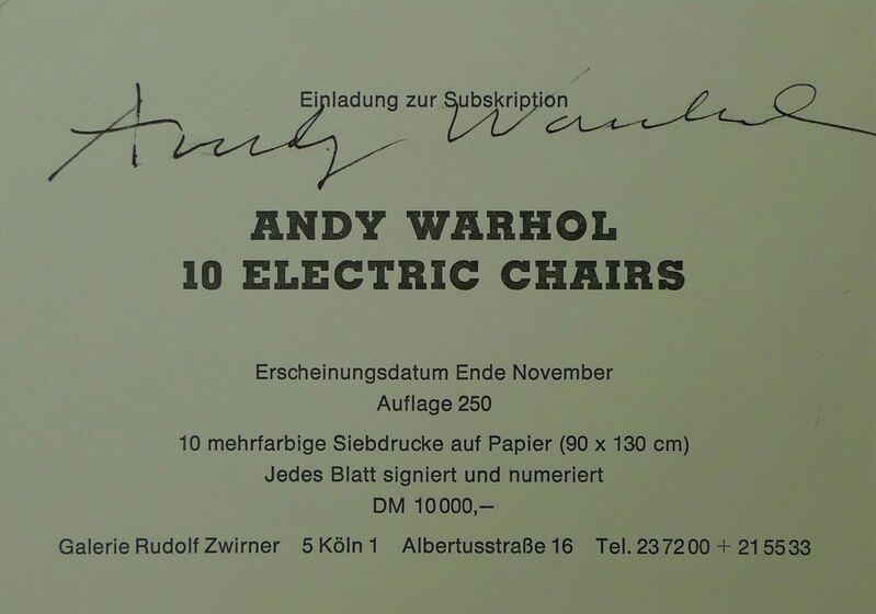 Andy Warhol, '10 Electric Chairs', 1971, Ephemera or Merchandise, Paper, Bengtsson Fine Art