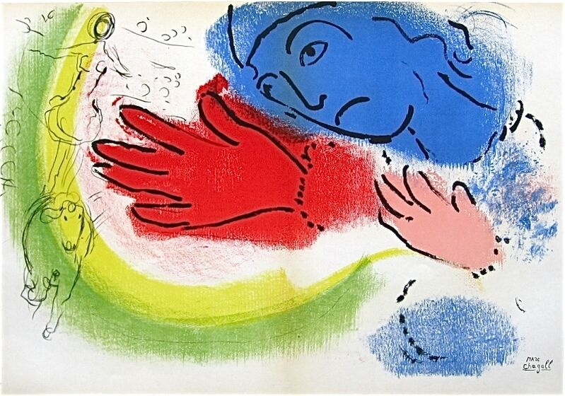 Marc Chagall, 'Woman Circus Rider', 1956, Print, Color lithograph, Sylvan Cole Gallery