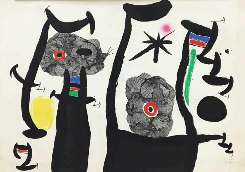 Joan Miró, 'The Sea Shells (Les Coquillages)', 1969, Print, Color lithograph on Arches paper, Baterbys