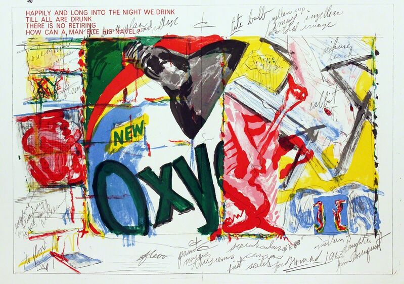 James Rosenquist, 'Oxy', 1964, Print, Lithograph in colors on folded paper as issued, Woodward Gallery