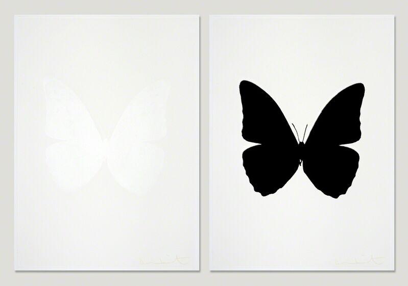 Damien Hirst, 'The Souls III - Cotton White  + Raven Black (sold as set)', 2010, Print, Three Colour Foil Block Print, Samuel Owen Gallery