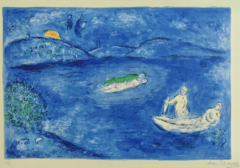 Marc Chagall, 'Echo, from Daphnis and Chloe', 1961, Print, Lithograph in Colors, Thou Art