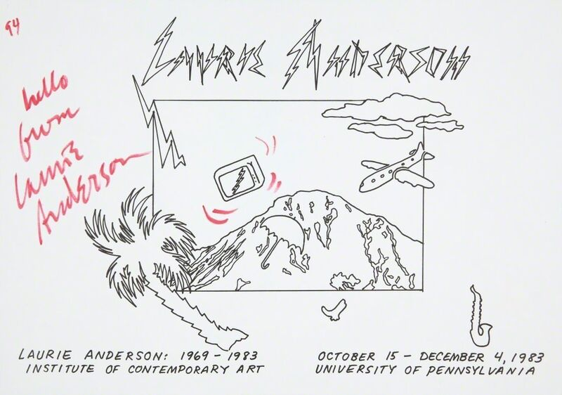 Laurie Anderson, 'Untitled', 1983, Print, Handcolored offset lithograph, ICA Philadelphia