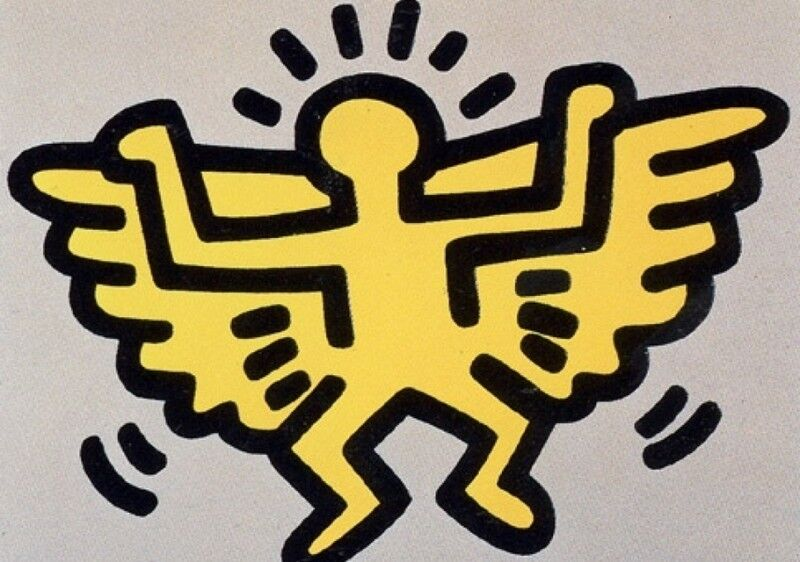 Keith Haring, 'Icons: (C) Angel', 1990, Print, Screenprint with embossing on paper, Taglialatella Galleries