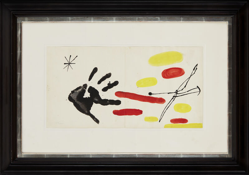 Joan Miró, 'Sans titre (Joan Miró y Cataluña)', 1968, Painting, India ink and gouache, CFHILL