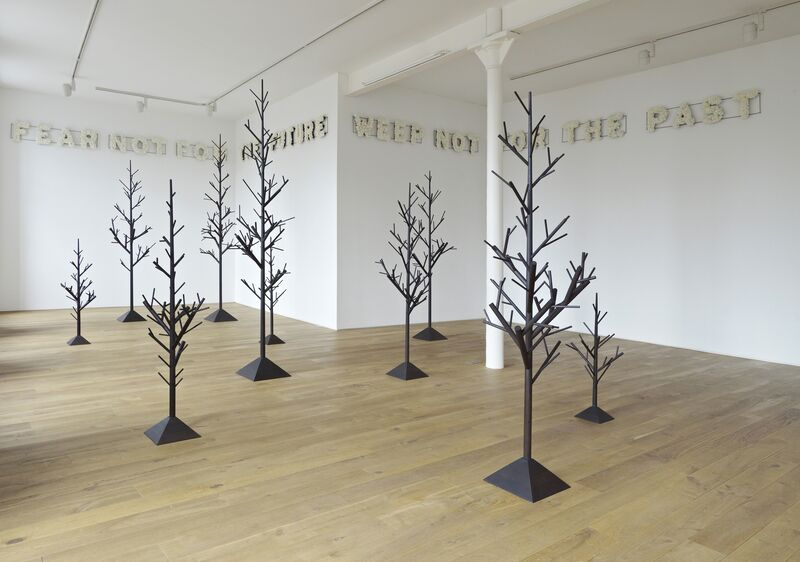 Peter Liversidge, 'Nineteen Trees', Installation, Ebonised American Walnut, with Alastair Letch, 19 parts. Dimensions vary., Ingleby Gallery