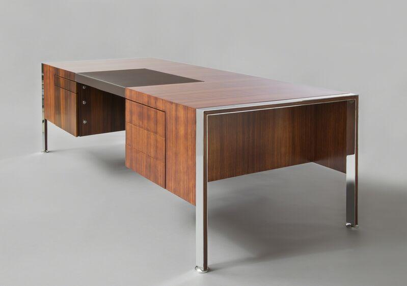 Joseph-André Motte, 'Gamme Prestige direction desk', 1962, Design/Decorative Art, Chromed metal, rosewood and leather, Galerie Pascal Cuisinier