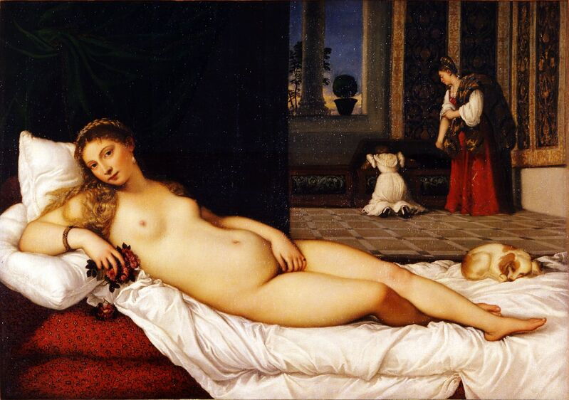 Titian, 'Venus of Urbino', 1538, Painting, Oil on canvas, Galleria degli Uffizi