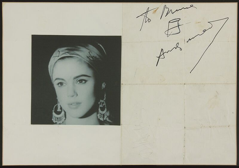 Andy Warhol, 'Soup Can & signature on Max's Kansas City poster', Drawing, Collage or other Work on Paper, Poster, Doyle