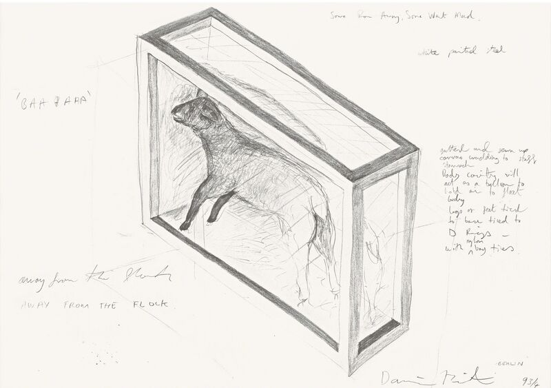 Damien Hirst, 'Away From the Flock', 2012, Drawing, Collage or other Work on Paper, Etching, Pangolin London