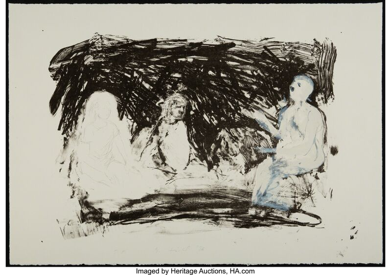 Eric Fischl, 'Annie, Gwen, Lilly, Pam, and Tulip', 1986, Print, Lithograph in colors on Rives BFK paper, Heritage Auctions