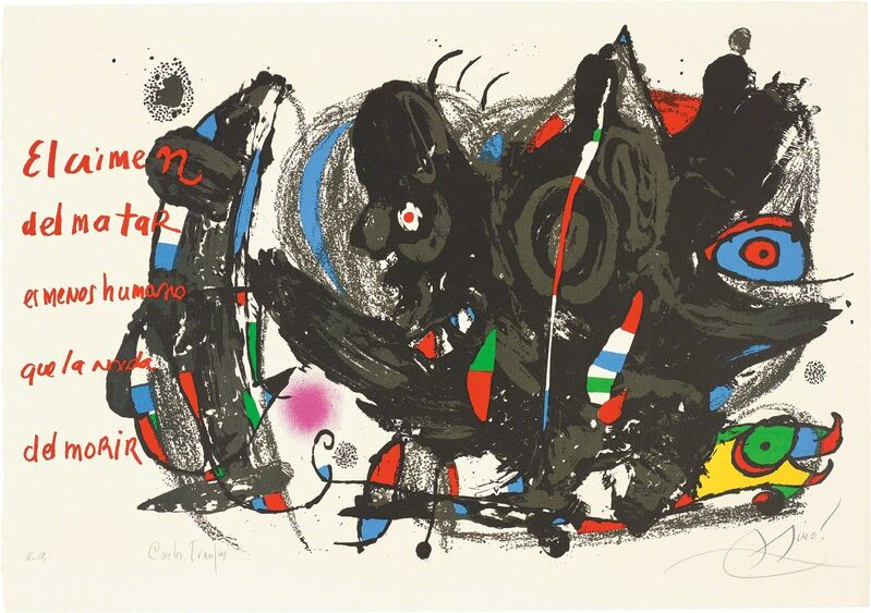 Joan Miró, 'Poemas para Mirar (Poems to Watch)', 1976, Print, Lithograph in colours, on wove paper, with full margins, Phillips