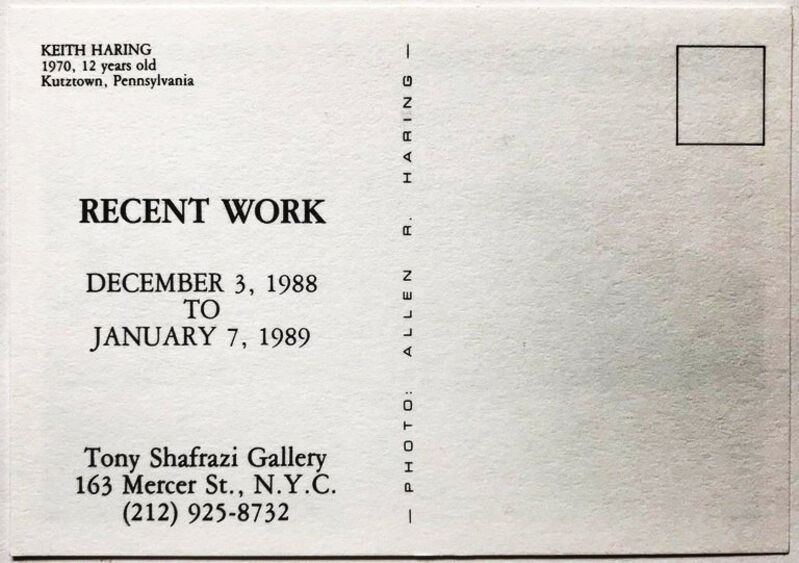 Keith Haring, 'Vintage Keith Haring announcement card ', 1989, Ephemera or Merchandise, Offset printed gallery announcement, Lot 180