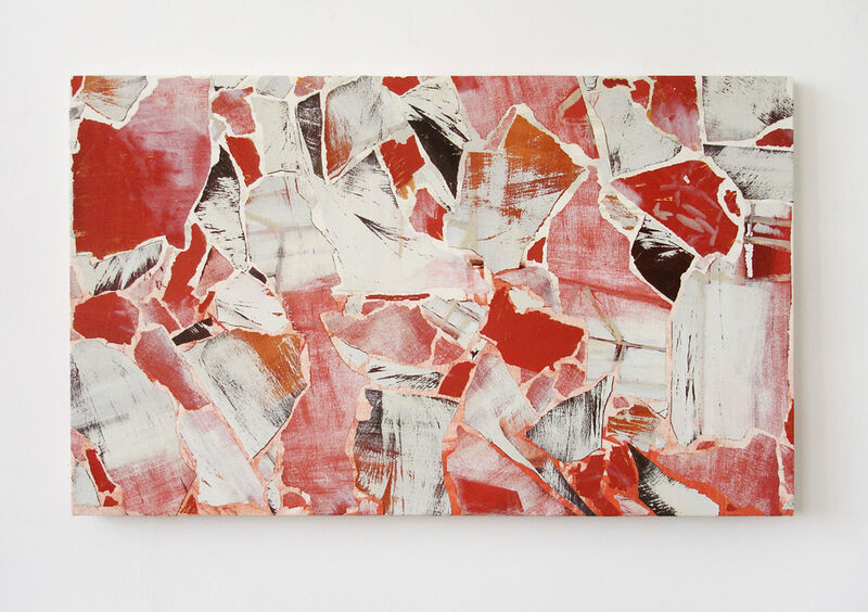 Pavel Büchler, 'Modern Paintings No. A44 (townscape with floating blocks, Manchester, August 2007)', 1997-2007, Painting, Reclaimed paint on canvas, Tanya Leighton