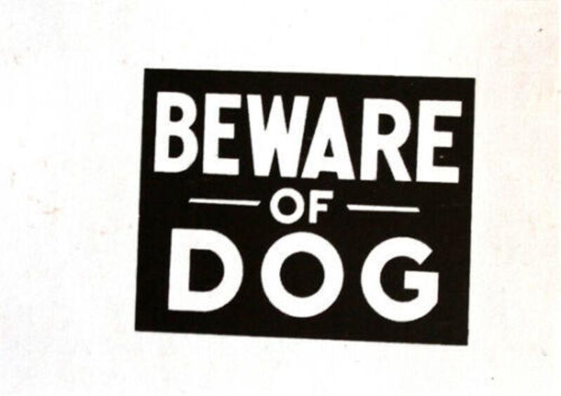 Andy Warhol, 'Beware of Dog', 1983, Print, Original serigraph on Saunders Waterford paper, DANE FINE ART