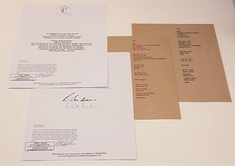 "Robert Indiana, 'Numbers Suite: ""Zero""', 1968, Print, Original Screen Print on paper, Cerbera Gallery"