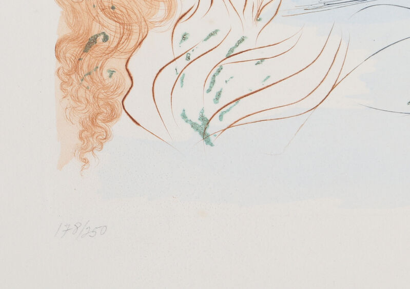 Salvador Dalí, 'Let him kiss me... from Song of Songs of King Solomon', 1972, Print, Color Etching with gold dust on Arches Paper, RoGallery
