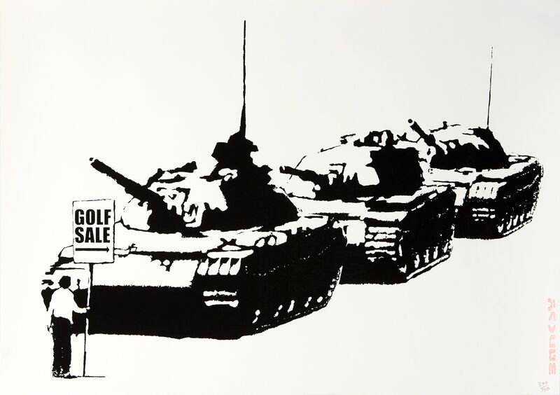 Banksy, 'Golf sale (Unsigned)', 2003, Print, Screen print on paper, Robin Rile Fine Art