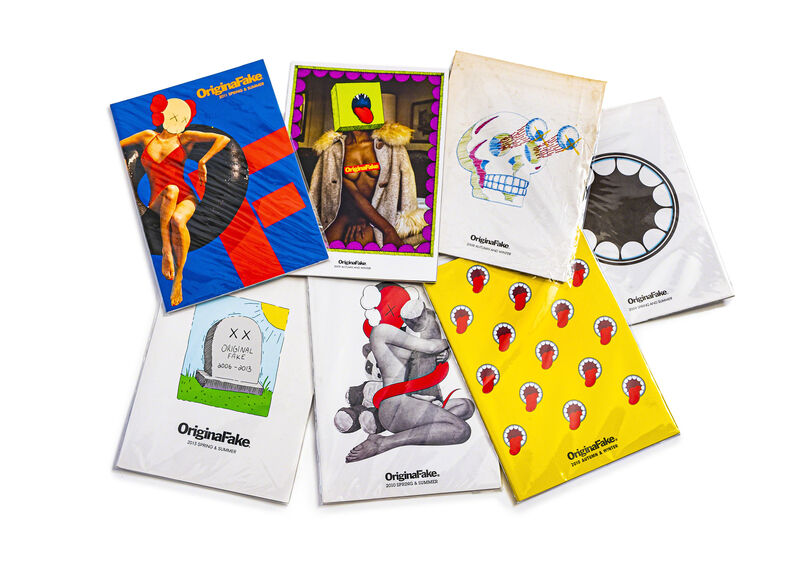 KAWS, 'SET OF 7 ORIGINALFAKE CATALOGS WITH 2 CARDS', 2008-2013, Books and Portfolios, Magazines, DIGARD AUCTION