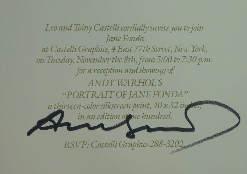 Andy Warhol, 'Portraits of Jane Fonda', 1982, Ephemera or Merchandise, Litograph on paper, Bengtsson Fine Art