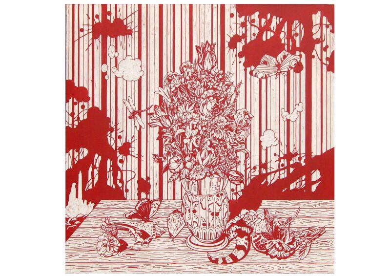 Kenichi Yokono, 'Still 2', 2009, Painting, Carved panel and enamel, DENK Gallery