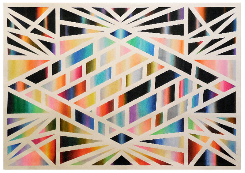 Anne Wölk, 'Composition 2, (variation on diamond theme)', 2014, Drawing, Collage or other Work on Paper, Chalk pastels on paper, Alfa Gallery
