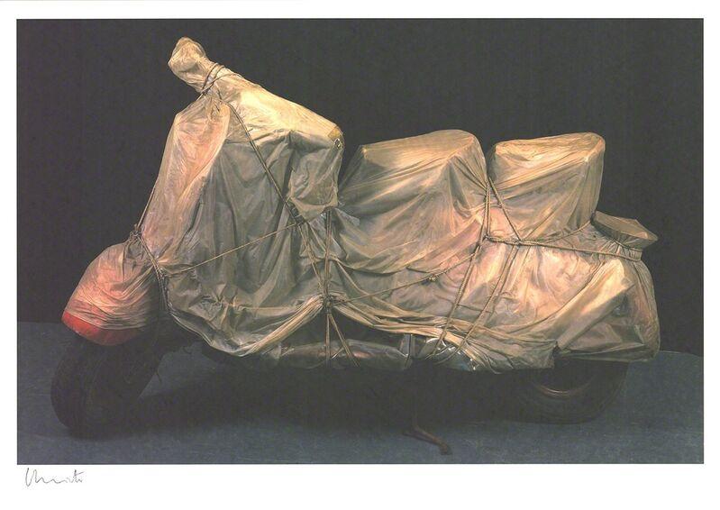 Christo, 'Wrapped Vespa', 2009, Print, Offset Lithograph, ArtWise