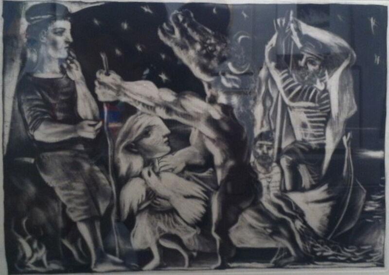 Pablo Picasso, 'Minotaure aveugle guide par une fillette dans la nuit', 1934, Print, Aquatint, Ruth Ziegler Fine Arts Ltd.