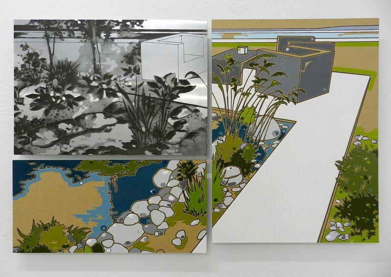 Guido Bagini, 'Technogreen #003', 2014, Painting, Enamel on cardboard and zinc polished on dibond, The Flat - Massimo Carasi