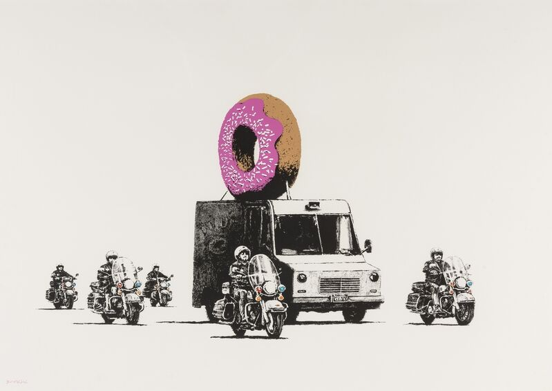 Banksy, 'Donuts (Strawberry)', 2009, Print, Screenprint in colours, Forum Auctions