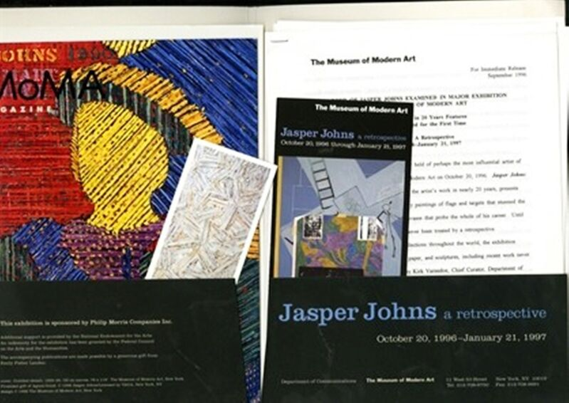 Jasper Johns, 'Rare Set of Three Vintage Press Kits for Andy Warhol (MOMA), Roy Lichtenstein (National Gallery, LACMA & Dallas Museum) and Jasper Johns (MOMA) Exhibitions', 1989-1997, Ephemera or Merchandise, Each with brochures, press releases, magazines and a bookmark, Alpha 137 Gallery