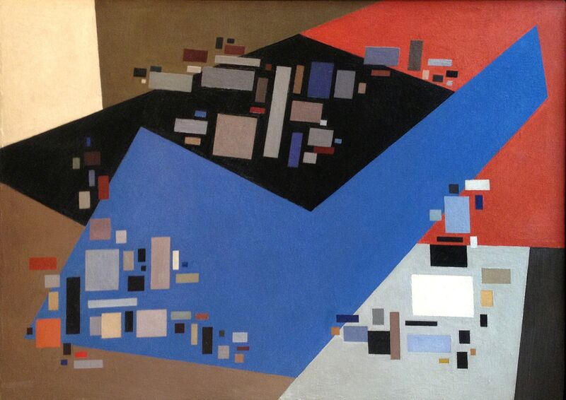 Alice Trumbull Mason, 'Small Forms Serving Against Large', 1949, Painting, Oil on canvas, Washburn Gallery