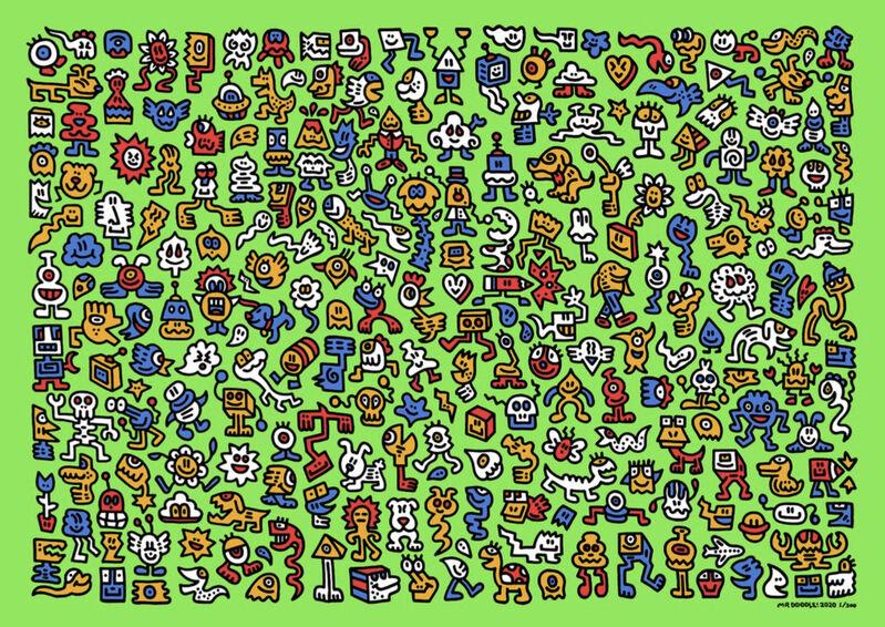 Mr Doodle, 'Alien Town', 2020, Print, Silkscreen, U Square