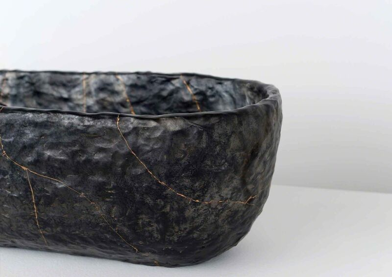 Anders Ruhwald, 'Smolder - Fired Earthenware Bowl, Cracked and Mended', 2015, Sculpture, Volume Gallery