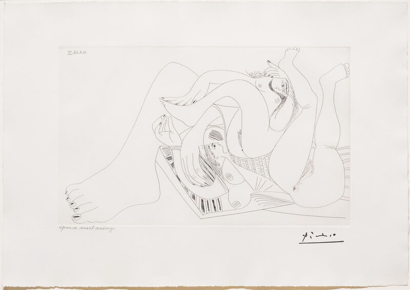 Pablo Picasso, 'Deux Femmes Batifolant..., from the 347 Series', 1968, Print, Etching, Leslie Sacks Gallery