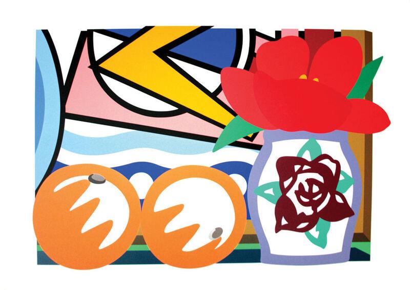 Tom Wesselmann, 'Still Life with Lichtenstein and Two Oranges', 1993, Print, Sérigraphie \ Silkscreen, Galerie de Bellefeuille