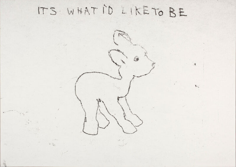 Tracey Emin, 'It's What I'd Like to Be', 1998, Print, Framed Screenprint. Signed Limited Edition of 50, Rhodes