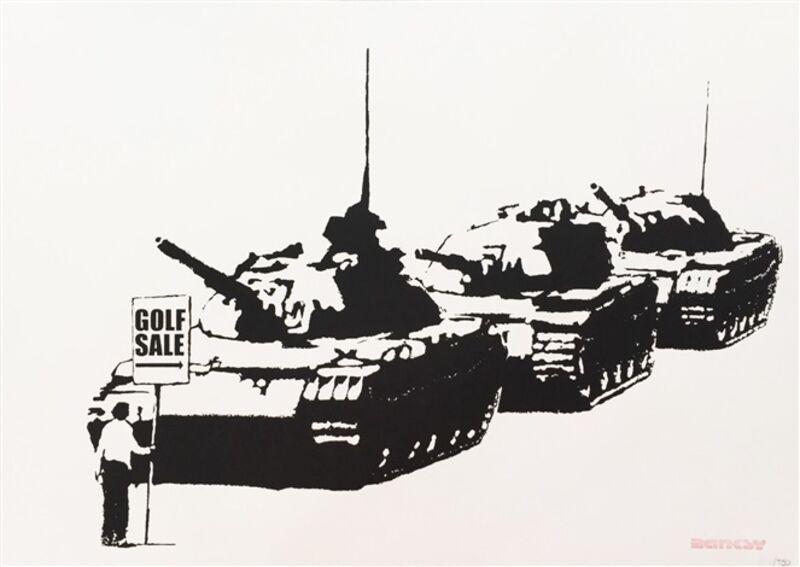 Banksy, 'Golf Sale (Unsigned)', 2003, Print, Screenprint On Paper, ArtLife Gallery