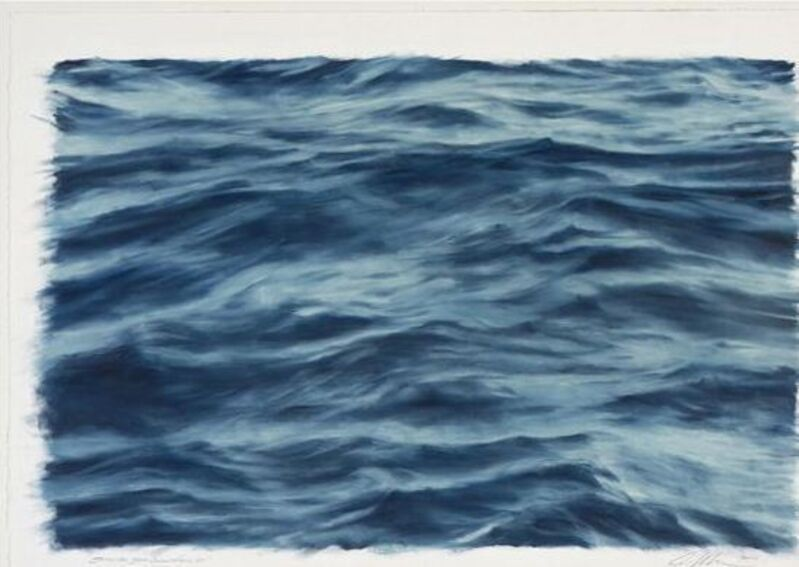 Clifford Smith, 'Study for Blue Ocean Field VII', 2010, Painting, Oil on Paper, Gerald Peters Gallery